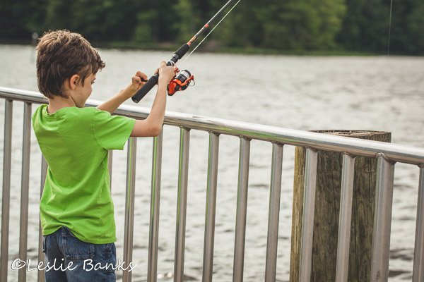 Boy Learning to Fish