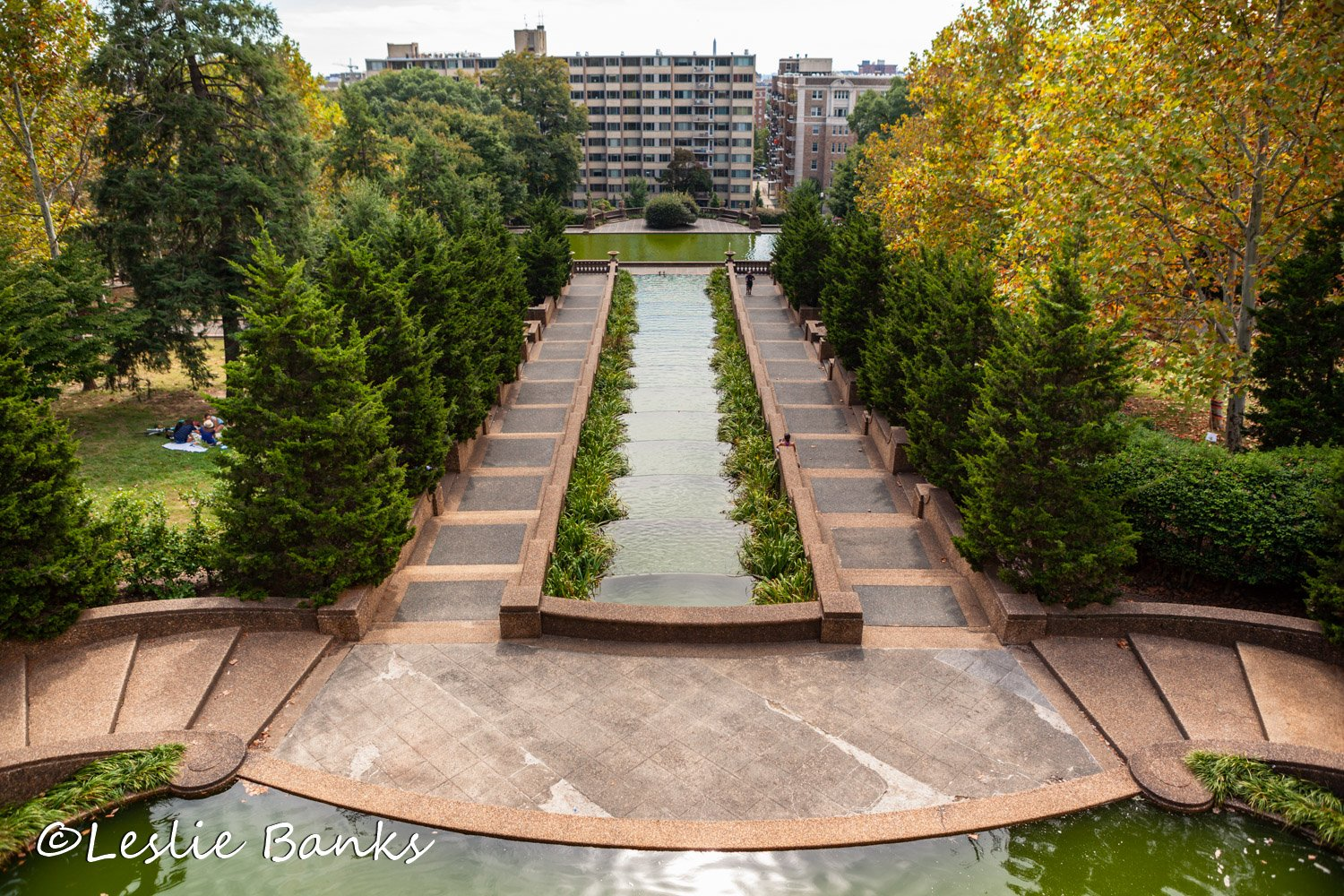 Cascading Waterfall at Meridian Hill Park