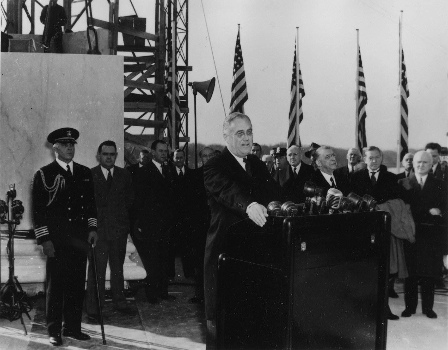 Franklin D. Roosevelt at The Jefferson Memorial cornerstone laying