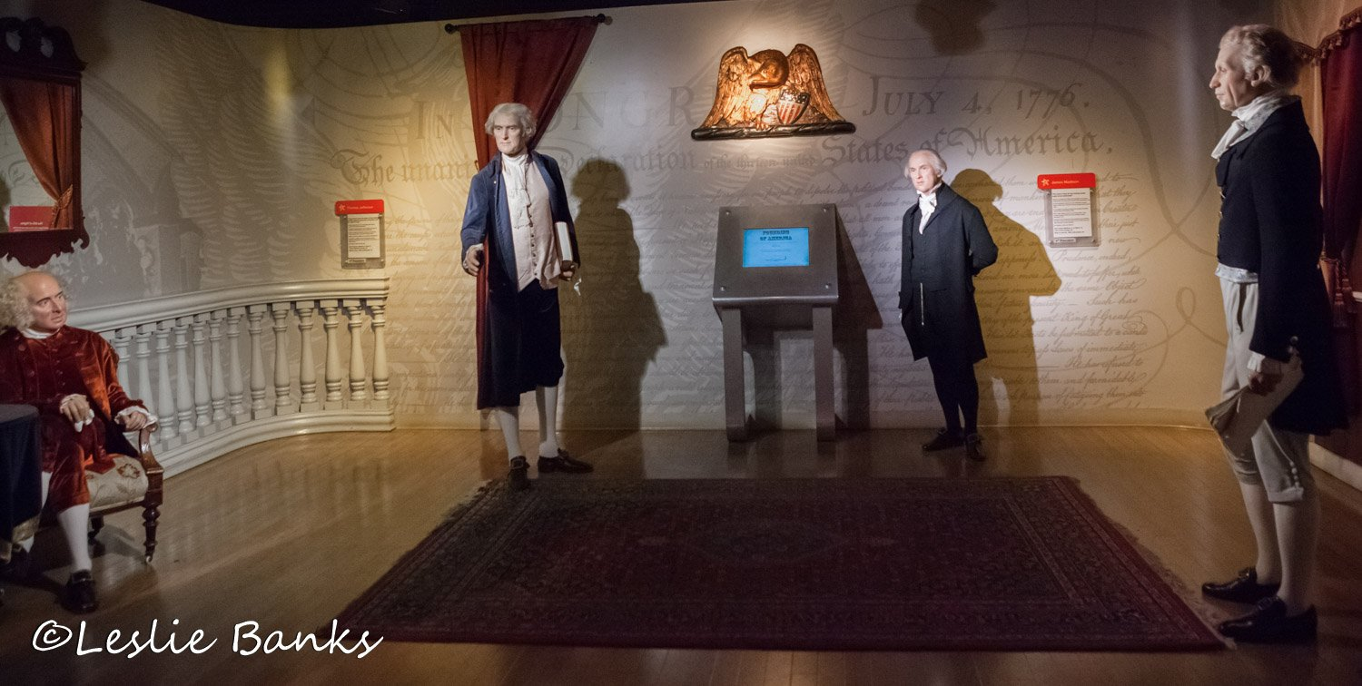 Founding Father Presidents at Madame Tussauds