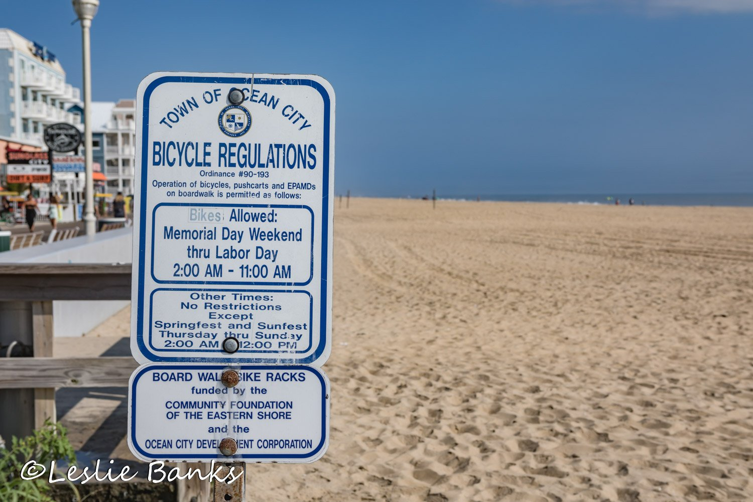 Ocean City Regulations Signs