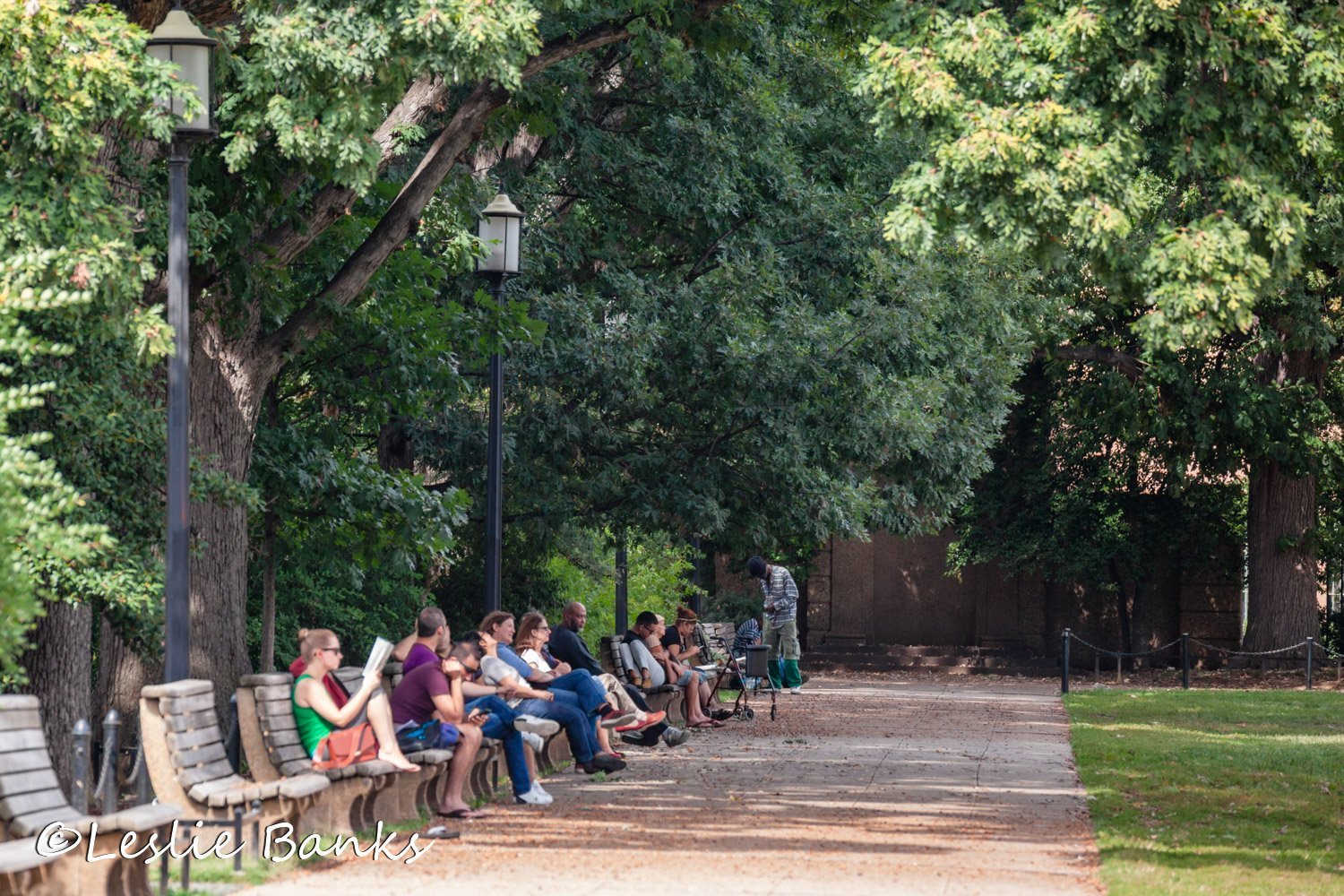 People Relaxing at Meridian Hill Park