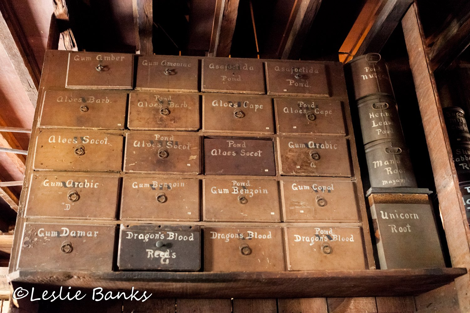 Stabler-Leadbeater Apothecary Storage