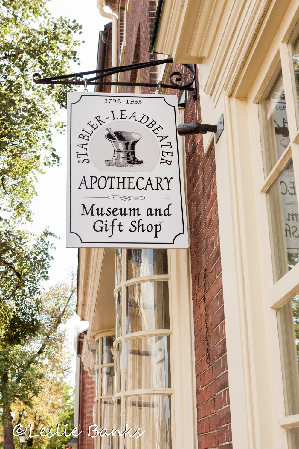 Stabler-Leadbeater Apothecary Museum Sign